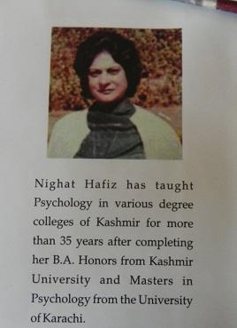 Life Writings and Kashmir  Narrative: Nighat Hafiz Tells A Big Story