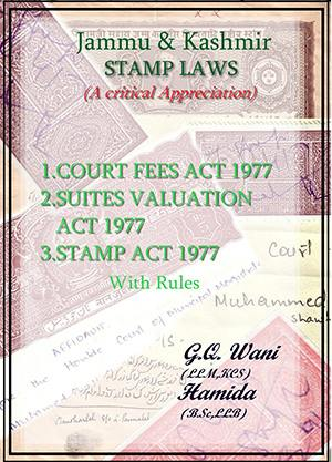 Cover of Jammu and Kashmir Stamp Laws